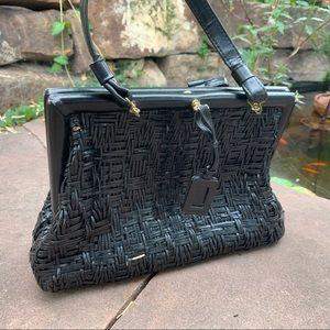 Black vintage purse by Roberta di Camerino